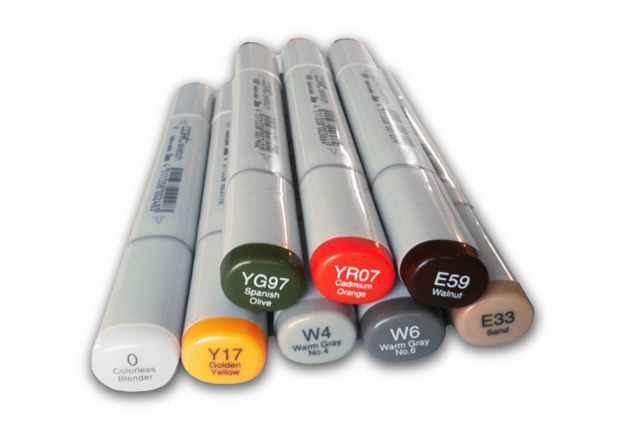 Picture of J:son Realistic Color Markers (set of 8)